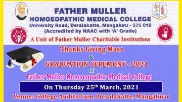 Graduation Day 2021, Father Mullers Homoeopathic College, Derelakatte