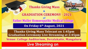 Father Muller Homeopathic Medical College  Graduation Ceremony- 2021