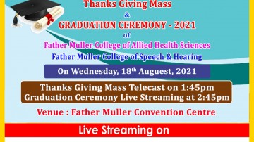 Father Muller Charitable Institutions  Graduation Ceremony-2021 College of Speech and hearing
